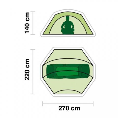 JRC Zelt - STI 1 Man Single Skin: Amazonde: Sport